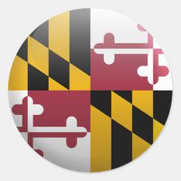 Flag of Maryland Classic Round Sticker