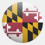 Flag of Maryland Round Sticker