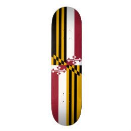 Flag of Maryland Skateboard Deck