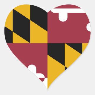 Flag_of_Maryland Heart Sticker