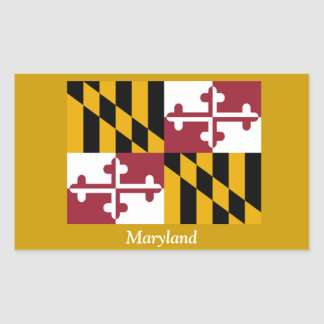 Flag of Maryland Rectangular Sticker