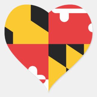 Flag of Maryland Heart Sticker