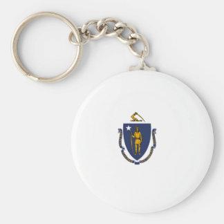 Flag Of Massachusetts Keychain