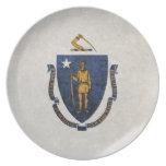 Flag of Massachusetts Party Plate