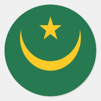Flag of Mauritania Classic Round Sticker