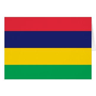 Flag of Mauritius Card