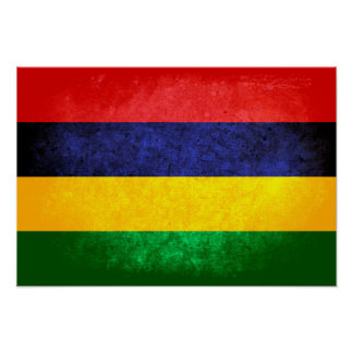 Flag of Mauritius Posters