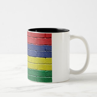 Flag of Mauritius Two-Tone Coffee Mug
