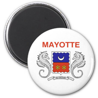 Flag of Mayotte 2 Inch Round Magnet