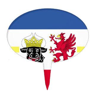 Flag_of_Mecklenburg-Western_Pomerania_ Cake Topper