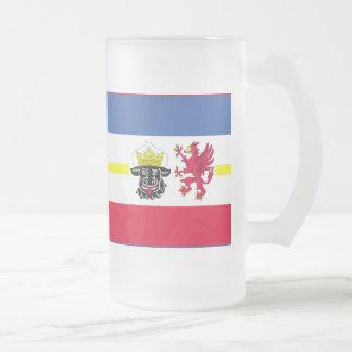 Flag of Mecklenburg-Western Pomerania Frosted Glass Beer Mug