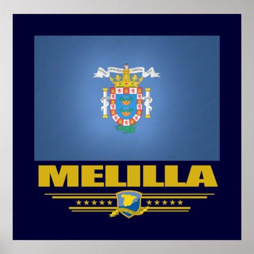 Flag of Melilla Poster