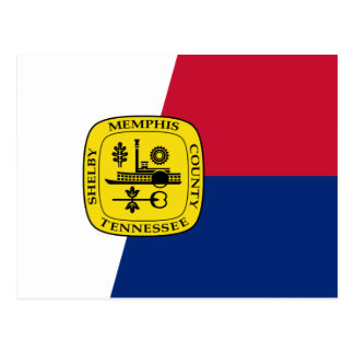 Flag of Memphis, Tennessee Postcard