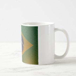 Flag of Metallized Brazil Coffee Mug