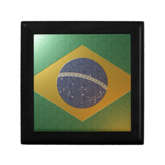 Flag of Metallized Brazil Gift Box