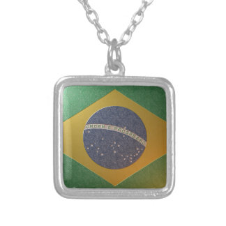 Flag of Metallized Brazil Pendants
