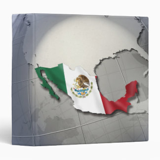 Flag of Mexico 3 Ring Binder