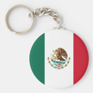 Flag of Mexico Basic Round Button Keychain