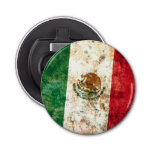 Flag of Mexico Button Bottle Opener