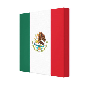 Flag of Mexico Canvas Print