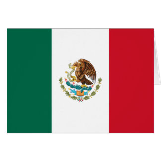 Flag of Mexico Greeting Card