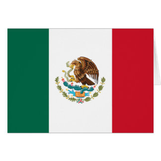 Flag of Mexico Card
