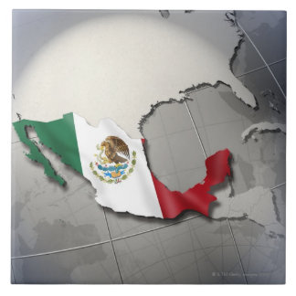 Flag of Mexico Ceramic Tile