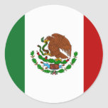 Flag of Mexico Classic Round Sticker