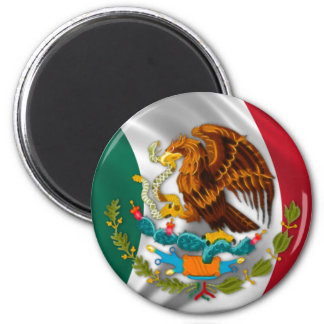 Flag of Mexico, Coat of Arms 2 Inch Round Magnet