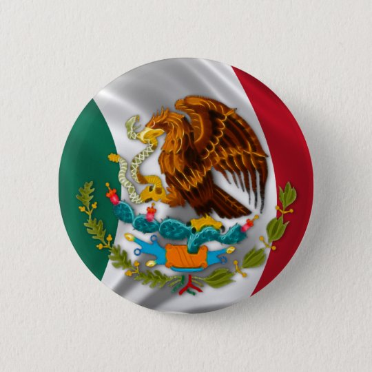 Flag of Mexico, Coat of Arms Button