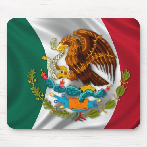 Flag of Mexico, Coat of Arms Mouse Pads