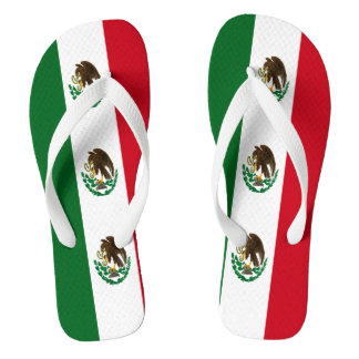 Flag of Mexico Flip Flops