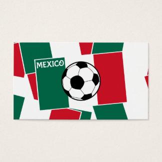 Flag of Mexico Football Business Card