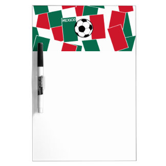 Flag of Mexico Football Dry Erase Board