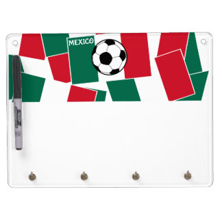 Flag of Mexico Football Dry Erase Board With Keychain Holder