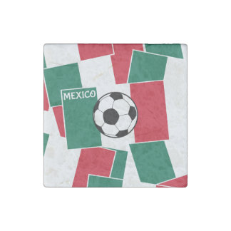 Flag of Mexico Football Stone Magnet