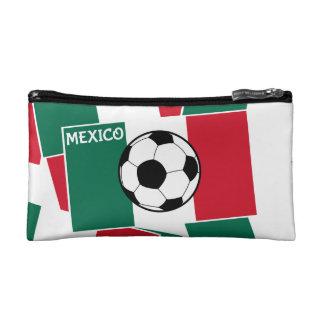 Flag of Mexico Football Makeup Bag