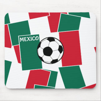Flag of Mexico Football Mouse Pad