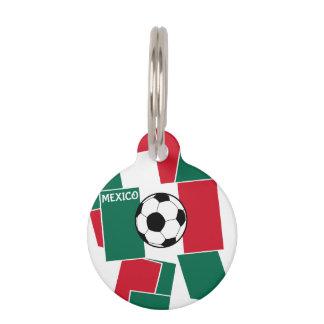 Flag of Mexico Football Pet ID Tag