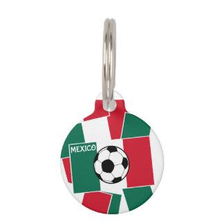 Flag of Mexico Football Pet Tag