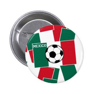 Flag of Mexico Football Pinback Button