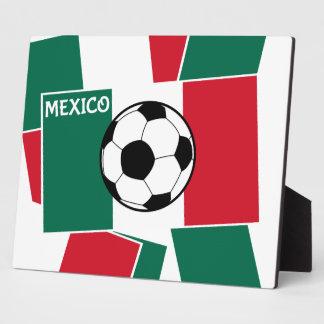 Flag of Mexico Football Plaque