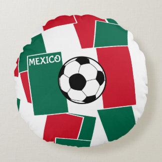 Flag of Mexico Football Round Pillow