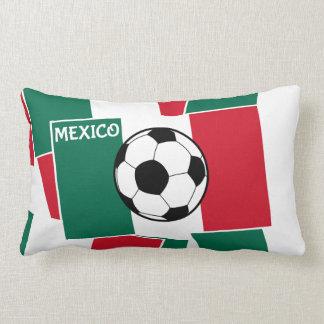 Flag of Mexico Football Throw Pillow