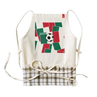 Flag of Mexico Football Zazzle HEART Apron