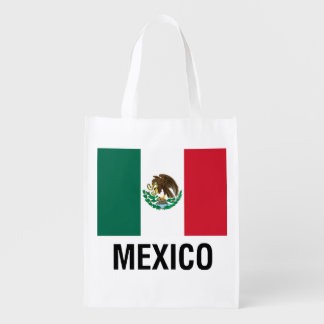 FLAG OF MEXICO GROCERY BAG