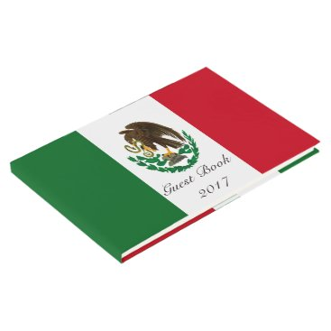 Aztec Themed Flag of Mexico Guest Book