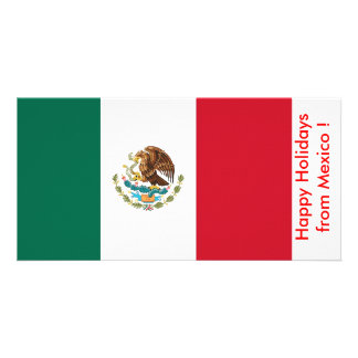 Flag of Mexico Happy Holidays from Mexico Photo Greeting Card