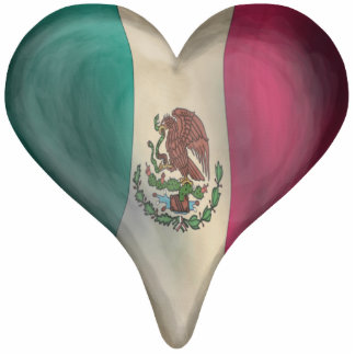 Flag Of Mexico In A Heart Cutout