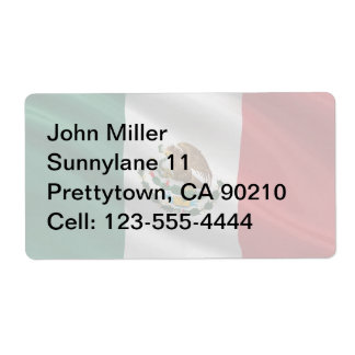 Flag of Mexico Label